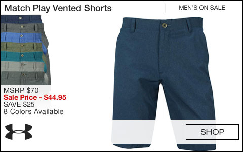 Under Armour Match Play Vented Golf Shorts - ON SALE