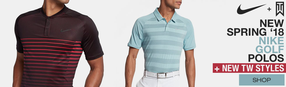 New Nike S18 Polos + New Tiger Styles at Golf Locker