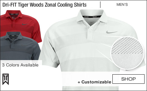 Nike Dri-FIT Tiger Woods Zonal Cooling Golf Shirts