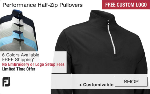 FJ Performance Half-Zip Golf Pullovers with Gathered Waist - FREE CUSTOM LOGO WEEKEND