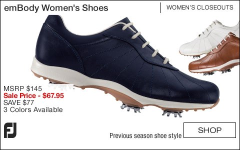 FJ emBody Women's Golf Shoes - CLOSEOUTS