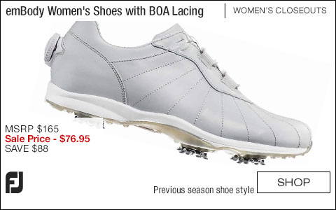 FJ emBody Women's Golf Shoes with BOA Lacing System - CLOSEOUTS