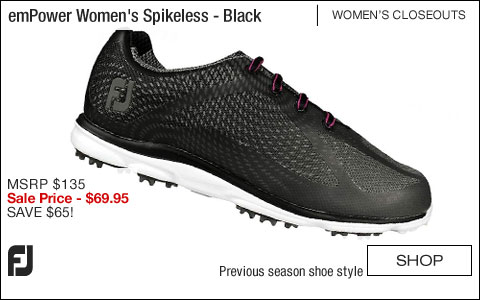 FJ emPower Women's Spikeless Golf Shoes - Black - CLOSEOUTS