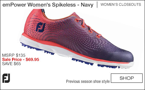FJ emPower Women's Spikeless Golf Shoes - Navy - CLOSEOUTS