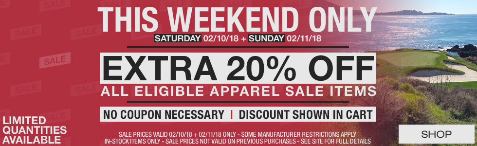 This Weekend Only - Extra 20% Off All Eligible Apparel Sale Items