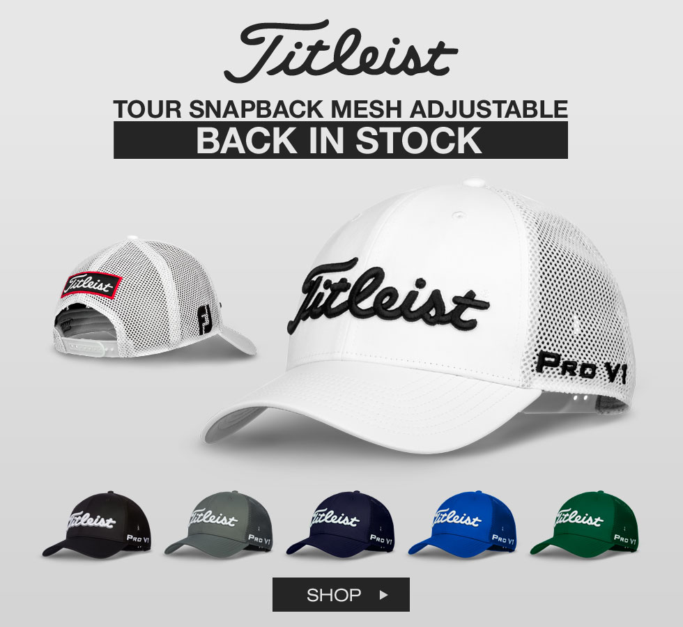 Titleist Tour Snapback Mesh Adjustable Golf Hats Are Back In Stock
