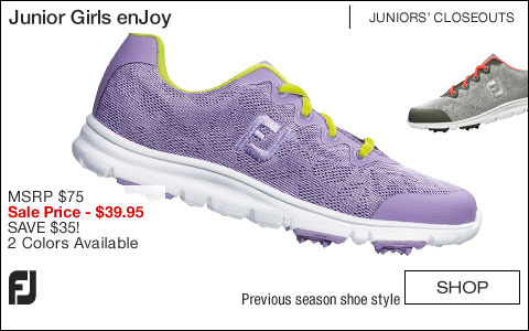 FJ Girl's enJoy Junior Golf Shoes - CLOSEOUTS