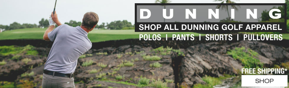 Click here to shop all Dunning Golf Apparel at Golf Locker