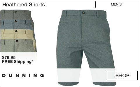 Dunning Heathered Golf Shorts