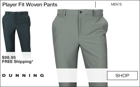 Dunning Player Fit Woven Golf Pants