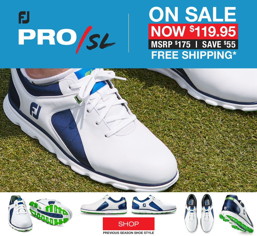 FJ Pro SL Spikeless Golf Shoes - Previous Season Style - 53584