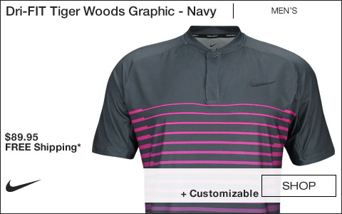 Nike Dri-FIT Tiger Woods Graphic Golf Shirts - Navy