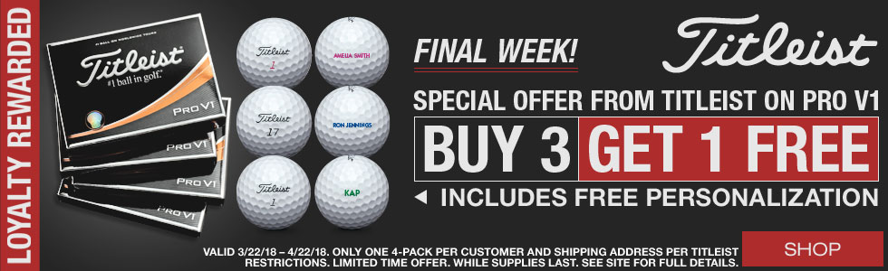 Titleist Loyalty Rewarded Promo Final Week