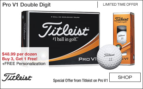 Titleist Pro V1 Double Digit Personalized Golf Balls - Buy 3, Get 1 Free!