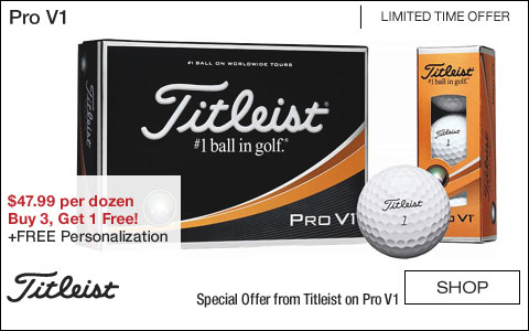 Titleist Pro V1 Personalized Golf Balls - Buy 3, Get 1 Free!