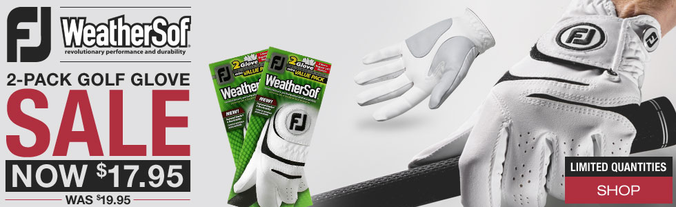 FJ WeatherSof 2-Pack Golf Gloves - ON SALE