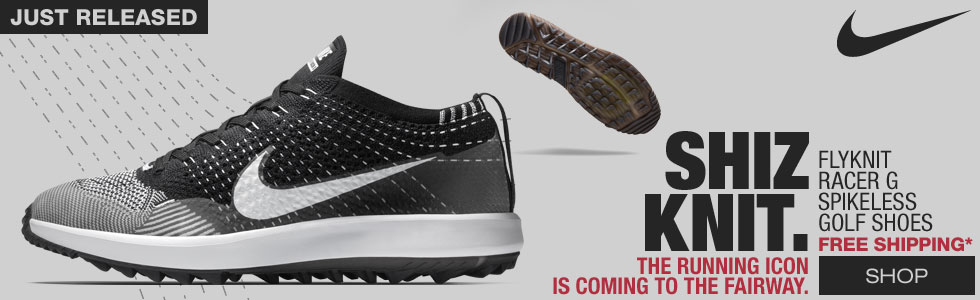 Nike Flyknit Racer G Spikeless Golf Shoes - New for 2018