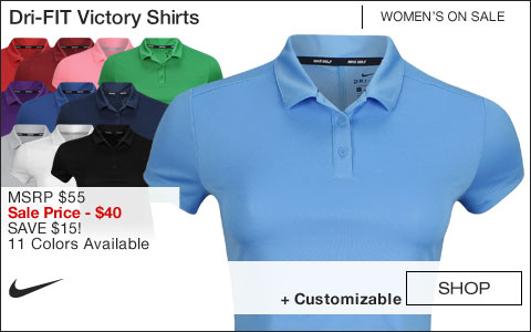 Nike Women's Dri-FIT Victory Golf Shirts - ON SALE