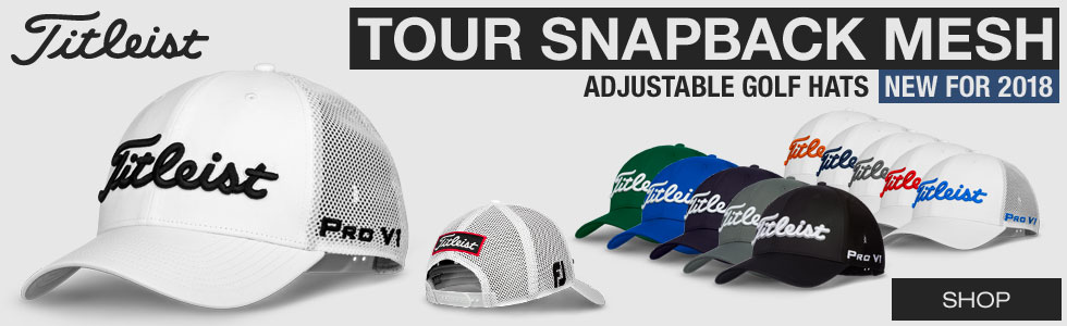 Titleist Tour Snapback Mesh Adjustable Golf Hats