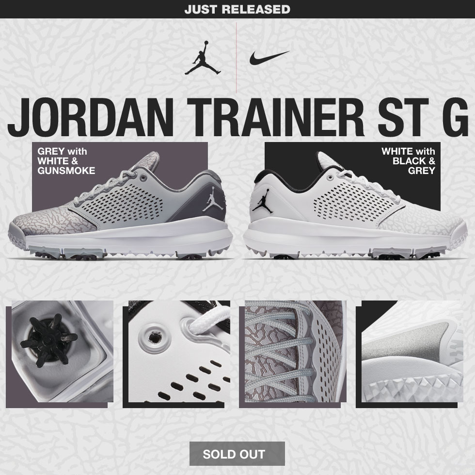buy online 5e749 22d61 Nike Air Jordan Trainer ST G Golf Shoes
