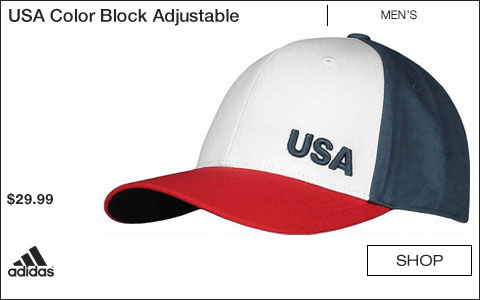 Adidas USA Color Block Adjustable Golf Hats