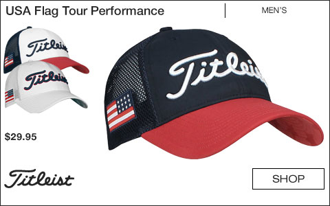 Titleist USA Flag Tour Performance Mesh Adjustable Golf Hats