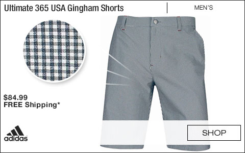Adidas Ultimate 365 USA Gingham Golf Shorts