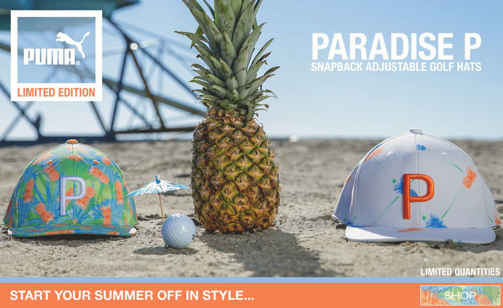 PUMA Paradise P Snapback Adjustable Golf Hats - Limited Edition