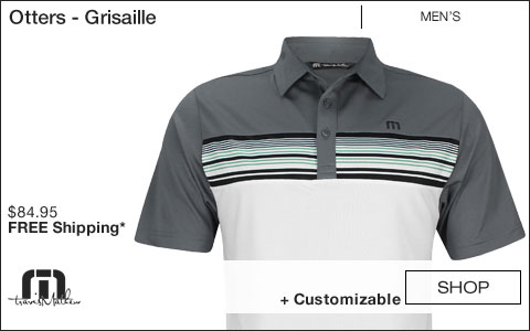 Travis Mathew Otters Golf Shirts - Grisaille