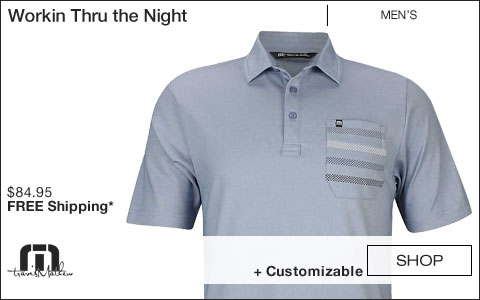 Travis Mathew Workin Thru the Night Golf Shirts