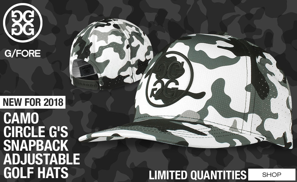 G/Fore Camo Circle G's Snapback Adjustable Golf Hats