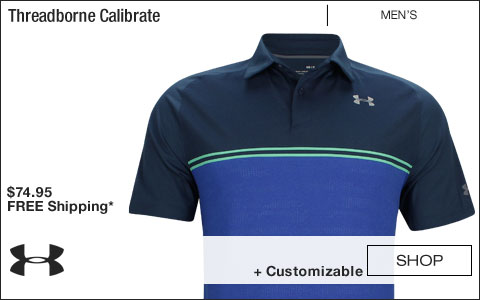 Under Armour Threadborne Calibrate Golf Shirts - Academy