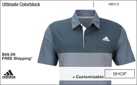 Adidas Ultimate Colorblock Golf Shirts - Tech Ink