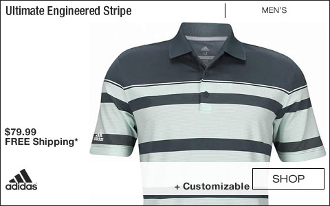 Adidas Ultimate Engineered Stripe Golf Shirts - Tech Ink