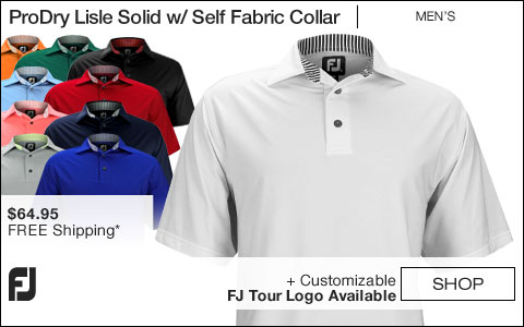 FJ ProDry Lisle Solid Golf Shirts with Self Fabric Collar - FJ Tour Logo Available