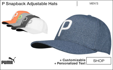 PUMA P Snapback Adjustable Golf Hats