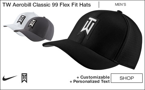 Nike Tiger Woods Aerobill Classic 99 Performance Flex Fit Golf Hats