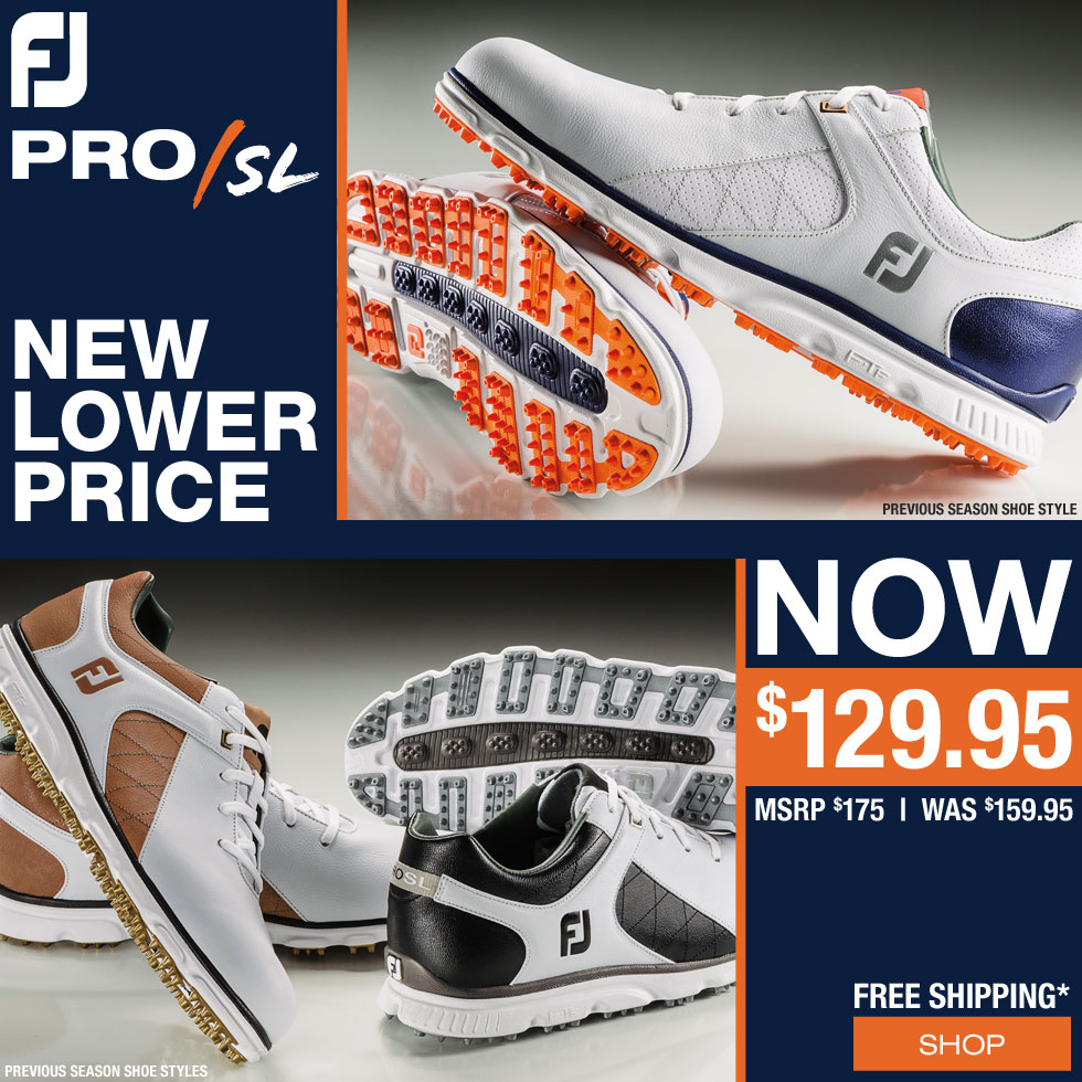 FJ Pro SL Spikeless Golf Shoes - Previous Season Style