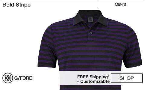 G/Fore Bold Stripe Golf Shirts