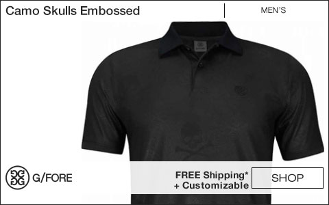 G/Fore Camo Skulls Embossed Golf Shirts