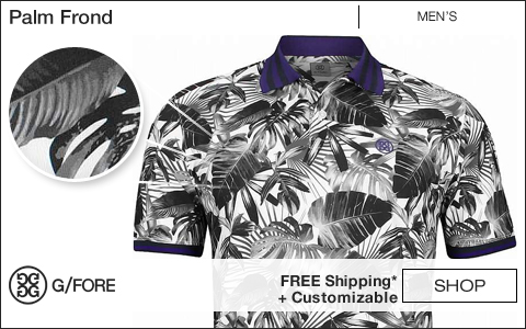 G/Fore Palm Frond Golf Shirts