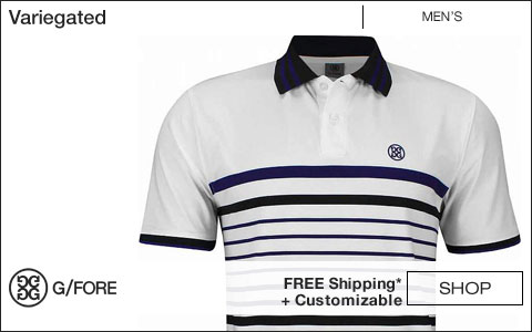G/Fore Variegated Golf Shirts