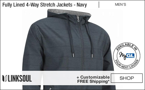 Linksoul Fully Lined 4-Way Stretch Full-Zip Golf Jackets - Navy
