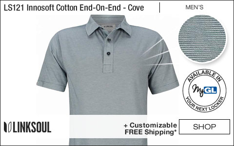 Linksoul S121 Innosoft Cotton End-On-End Stripe Golf Shirts - Cove