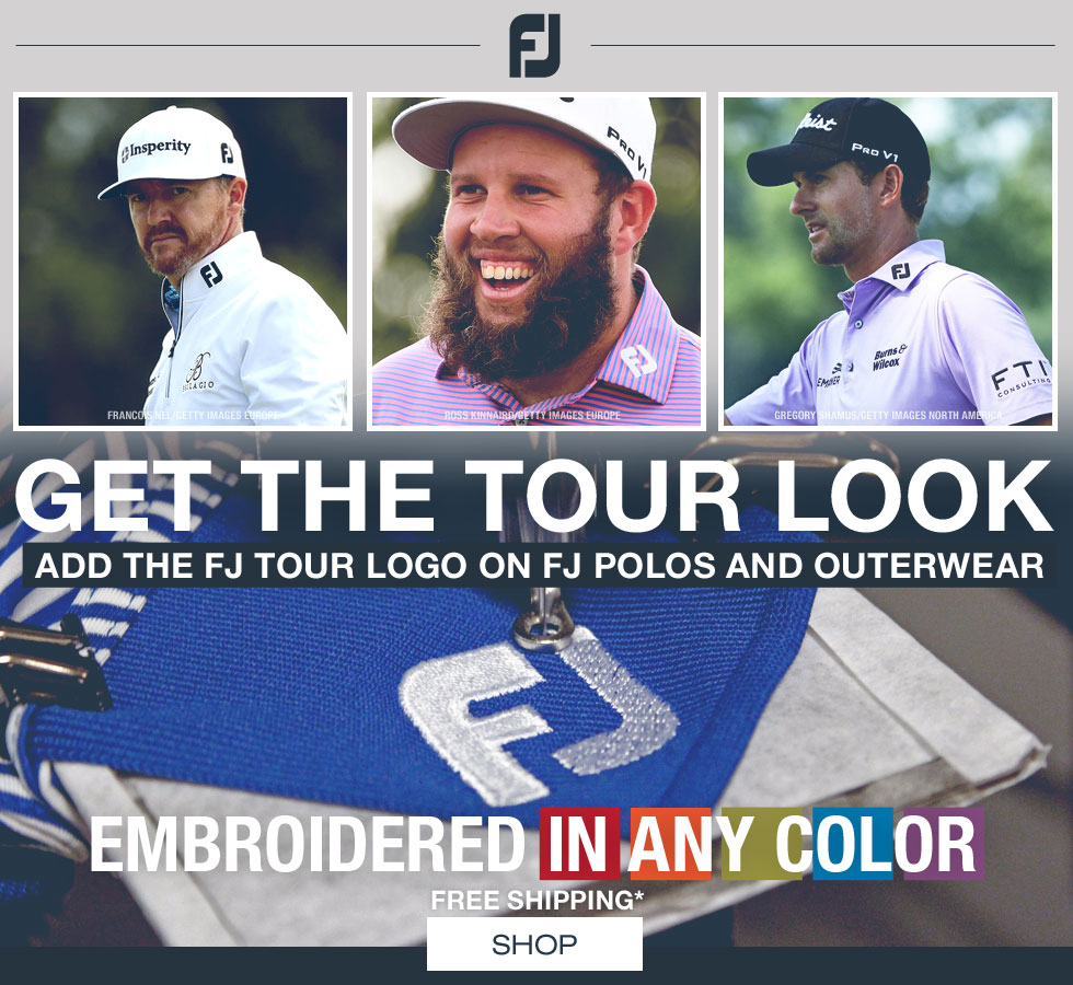 FJ Tour Logo Golf Polos and Outerwear at Golf Locker