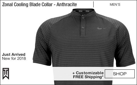 Nike Dri-FIT Tiger Woods Zonal Cooling Blade Collar Golf Shirts - Anthracite