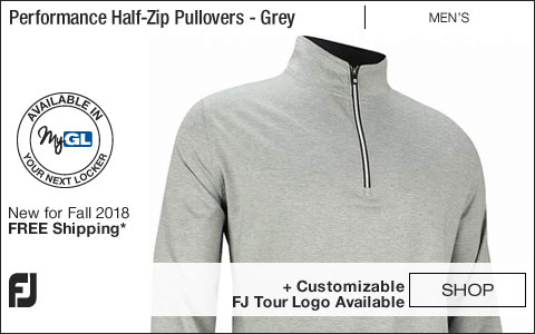 FJ Performance Half-Zip Golf Pullovers with Gathered Waist - FJ Tour Logo Available - Heather Grey