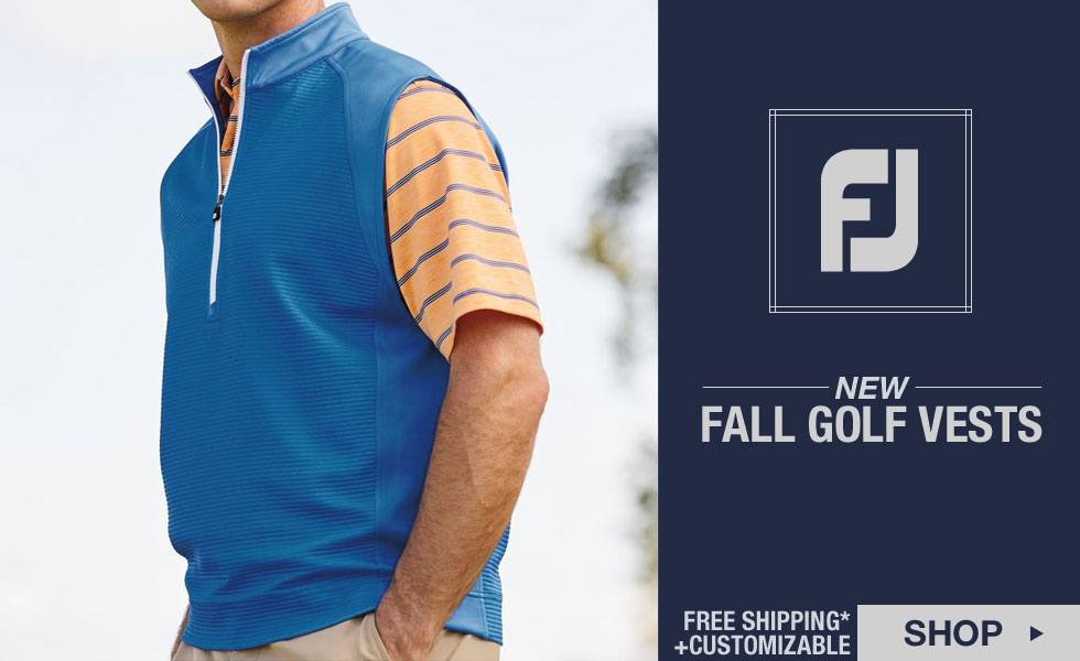 New FJ Golf Vests for Fall Now Available