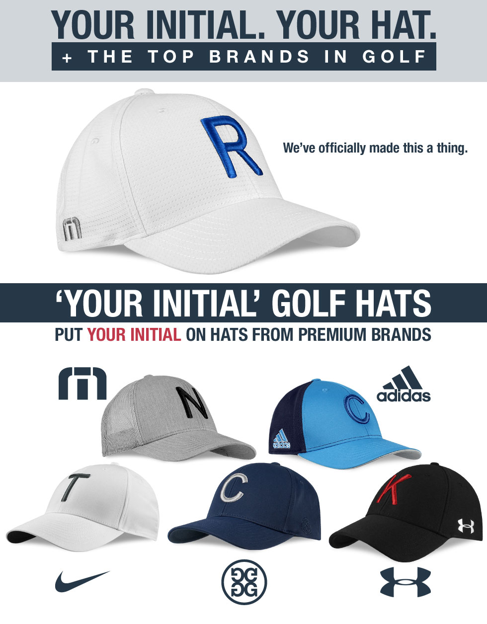 Your Initial Custom Hats at Golf Locker