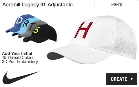 Nike 'Your Initial' Aerobill Legacy 91 Adjustable Golf Hats